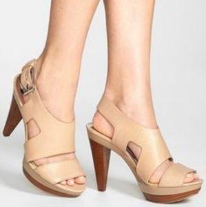 65e5593611fb Michael Kors Shoes - Michael kors Carla Vachetta Leather Platform Sanda